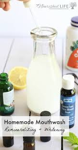 i require a lot out of my homemade mouthwash recipe it needs to be minty all natural whiten help remineralize my teeth