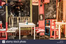 retro vintage view of pastel coffee with wooden tables and bistro table chairs set outdoor wrought iron dimensions