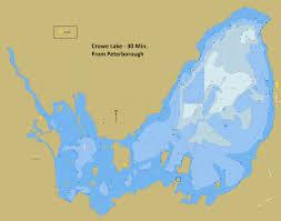 Depth Chart Of Crowe Lake 30 Min East Of Peterborough One