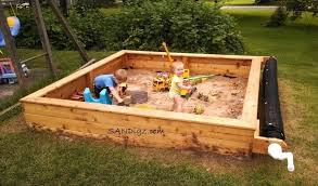 sand box cover sandboxes your kids will love easy to use cover and reel system keeps play area sandbox bench cover plans