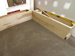 How to build a kitchen bench seat with storage Window Seat Step Diy Network How To Build Banquette Seating Howtos Diy