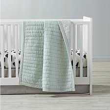 Cotton Candy Crib Bedding (Mint) | The Land of Nod & Cotton Candy Crib Bedding (Mint) Adamdwight.com