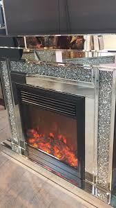 stunning design crystal fireplace