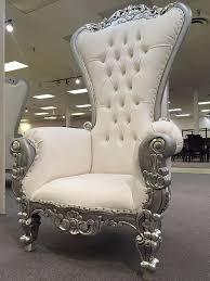 king david throne chair silver