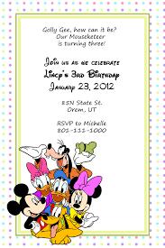 Disney Mickey And Friends Birthday Invitation Wedding