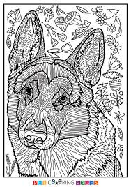 Small Picture Free printable German Shepherd Dog coloring page available for