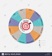 Circle Calendar Template 2020 Calendar Template Circle Calendar Template Calendar
