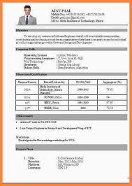 Resume Format Download For Freshers Resume Format For Freshers Pdf