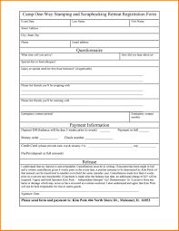printable registration form template printable forms examples tryprodermagenixorg registration basic