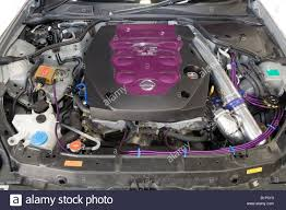 nissan 350z modified engine. Interesting Engine Modified Nissan VQ35DE Engine As Seen In A 350Z Car  Stock Image Intended 350z Modified Engine
