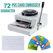 72 Character Letter Manual Embosser Stamping Machine Pvc Credit Card Maker New Ebay
