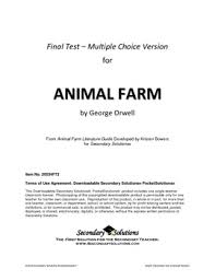 best animal farm images high school english  animal farm multiple choice test