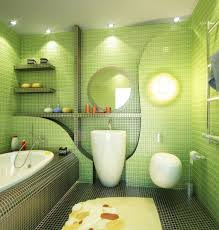 bathroom paint ideas green. Bathroom:Wonderful Green Bathroom Design With Unique Wall Ornament And White Sink Decorating Ideas Nice Paint