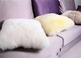 long wool black fur throw pillows fulffy hair cal sheepskin chair pad no filling