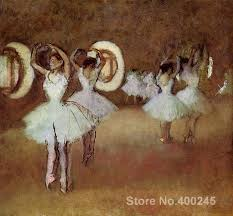 portrait artist edgar degas rehearsal in the studio of the opera oil painting high quality