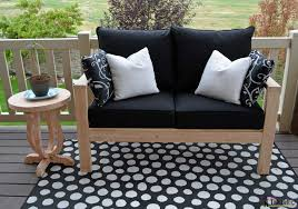 how to build patio furniture lovely diy outdoor seating her tool belt