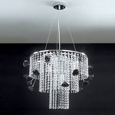 priscilla chandelier pendant lamp chrome with crystals modern design