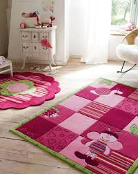 kids room cheerful bedroom area rugs nice pink bee pattern hand worked with incredible attention