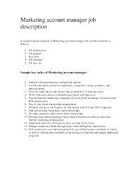 manager job description account manager job description
