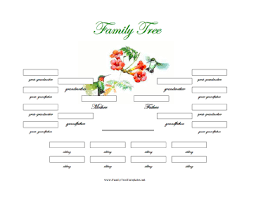 Sample Of Family Tree Chart 4 Generation Family Tree With Siblings Template Free