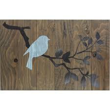 barn board wall art single blue bird