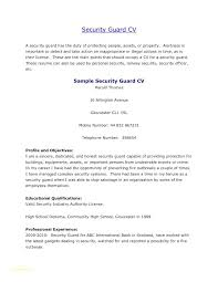 Sample Security Officer Resume Sample Security Officer Resume Security Guard Resume Format With