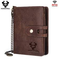 Designer Rfid Wallets Us 23 13 30 Off Humerpaul 100 Genuine Crazy Horse Leather Rfid Wallet Men Wallets Coin Purse Short Male Money Bag Quality Designer Small Walet In
