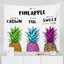 Amazoncom Pineapple Tapestry Quote Motivational Saying