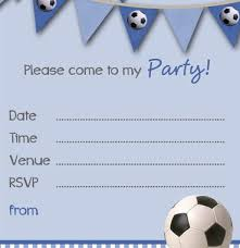 Boys Birthday Party Invitations Templates Free Printable Football Party Invitation Templates