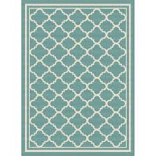 8 x 10 large aqua moroccan tile indoor outdoor rug garden city rc willey furniture