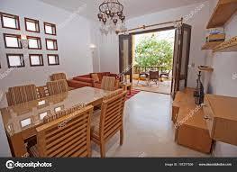 Woonkamer Lounge Luxe Appartement Toon Home Weergegeven Interieur