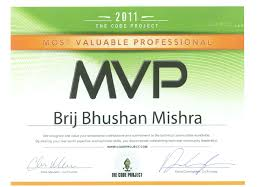 Recieved My Codeproject Mvp Certificate Code Wala