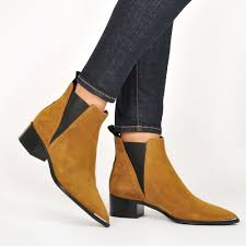 acne studios jensen suede boots dark sand women shoes