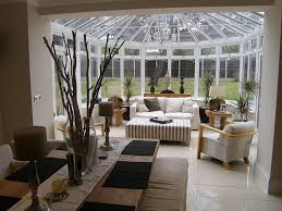 open plan conservatory living room