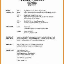 Simple Resume Template Word Enchanting Free Basic Resume Templates Microsoft Word Basic Resume Template In