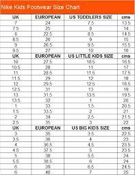 Nike Com Shoe Size Chart 49 Circumstantial Nike Kids Sizing Chart
