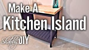 How To Build A Simple Kitchen Island YouTube