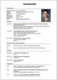 International Resume Format Lcysne Com