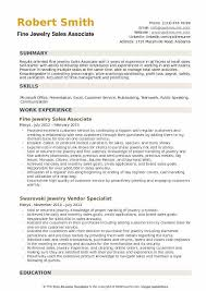 Skills A Sales Associate Should Have Fine Jewelry Sales Associate Resume Samples Qwikresume