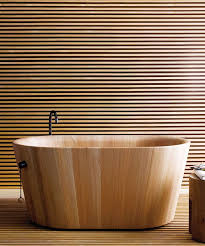 produced by matteo thun and partners this wooden bathtub is called ofurò