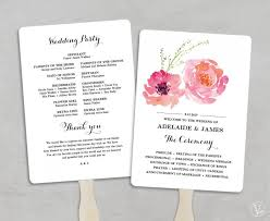 Wedding Program Fans Cheap Printable Wedding Program Fan Template Wedding Fans Diy Wedding