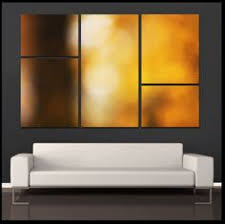 """""""Autumn Abstract"""" <b>5 Piece</b> Fine Art Gallery Wrapped Canvas <b>Wall</b> ..."""