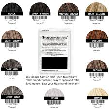 Samson Hair Building Fibers Refill 25 Grams Suitable For All Brands