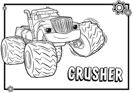 Blaze And The Monster Machines Coloring Pages Paperblog