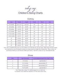 Kids Size Chart On Pinterest