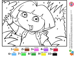 Coloriage Dessiner Dora A Faire Sur L Ordinateur