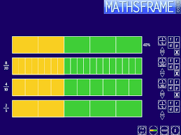 Fraction Bar Chart Itp Fractions Mathsframe