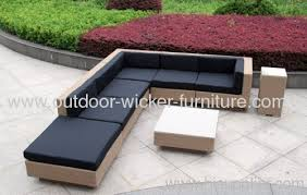 Outdoor Wicker Sofa With Waterproof Cushions  G