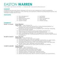 Housekeeping Attendant Sample Resume