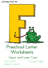 Free Preschool Letter F Worksheets- Learning 2 Walk